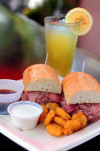 Roast Classic French Dip with Tots Photo by RICH SCHMITT Staff Photographer