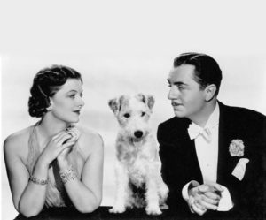 Nora and Nick Charles with Asta Photo courtesy of MGM